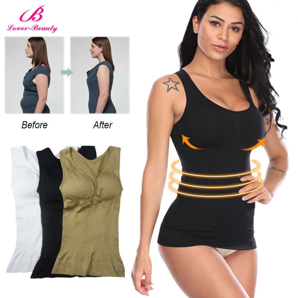 605eb9aa3b Lover Beauty Hot Shaper Slim Up Lift Plus Size Bra Cami Tank Top Women Body  Removable Underwear Slimming Vest Corset Shapewear A