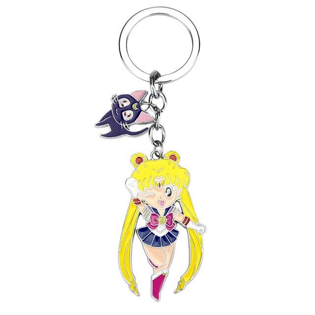 Sailor Moon rysunek zabawki Kawaii Anime Sailormoon kot Model brelok zawieszka Cosplay breloczki Cartoon brelok zabawki dla dzieci prezent