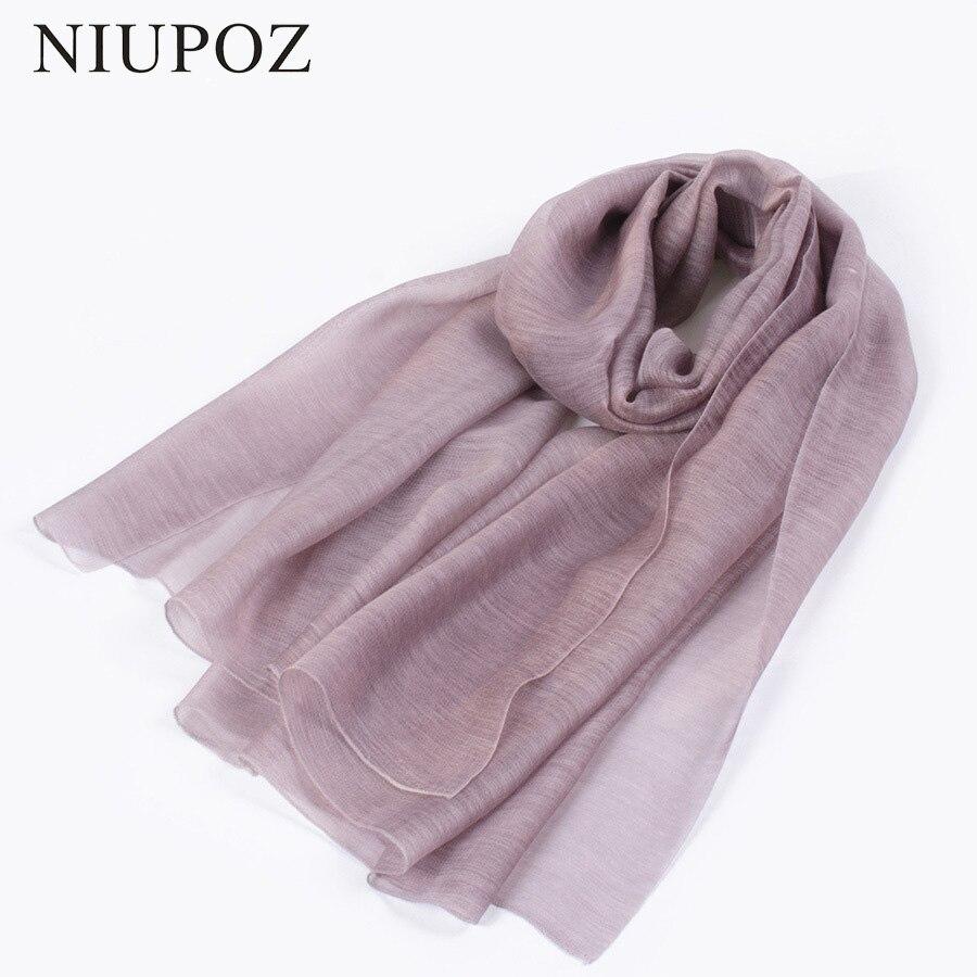 2017 Nuevo diseño de lujo marca sólida 30% seda 70% lana bufanda especialmente Mujeres Foulard elegante chal largo envoltura de alta calidad M208