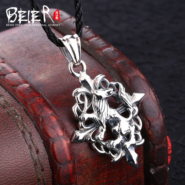 Free give black rope animal pendant Beier 925 silver sterling domineering tiger pendant necklace man Jewelry A0798