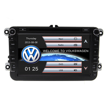 Hot Two Din 8″ Car DVD Player For VW/POLO/PASSAT/Golf/Skoda/Octavia/SEAT/LEON With AM FM Radio GPS BT 1080P Ipod RDS Navitel Map