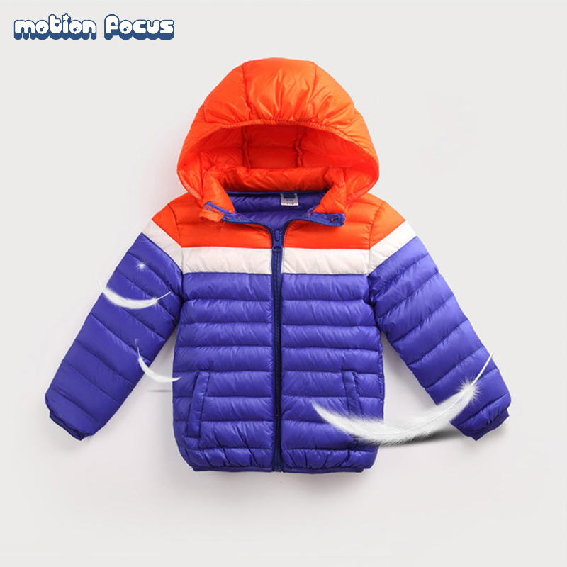 High Quality Children Winter Parka Hooded Coat Kid Boys Girls Patchwork Jacket 90% Duck Down Coats Kids Warm Outerwear for 4-8y high quality children down coats 2017