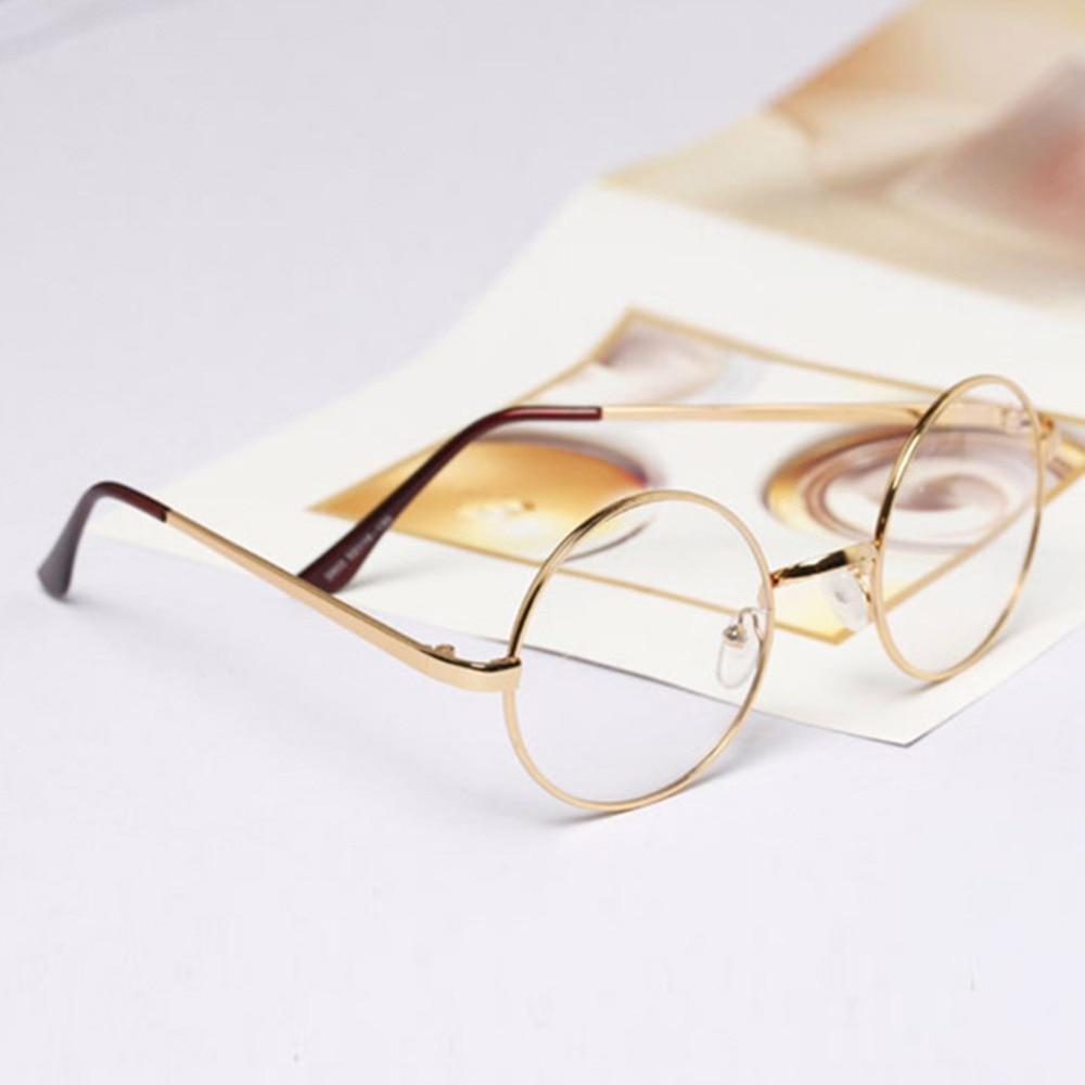 993dc6ca15 ... Retro Fashion Round Circle Metal Frame Eyeglasses Clear Lens Eye Glasses  Good Quality Unisex