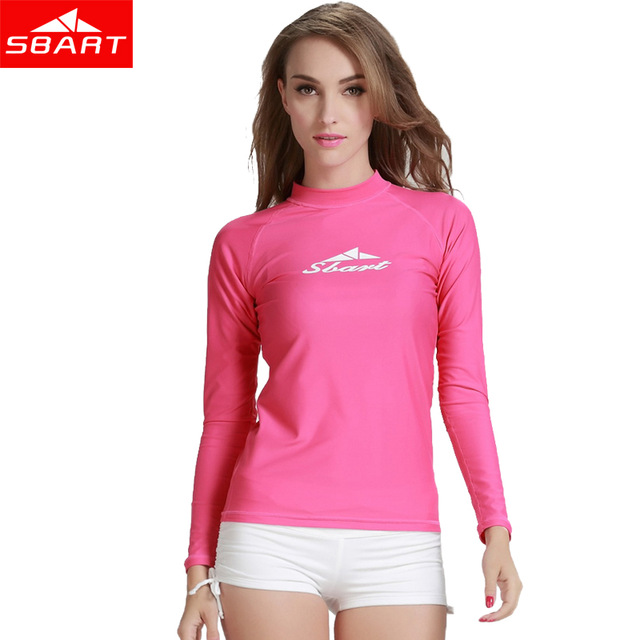 7fa734a47f05 SBART Rashguard camisas de baño para mujer, traje de baño para mujer, traje  de baño de manga larga para Surf de Lycra, traje de baño de manga larga, ...