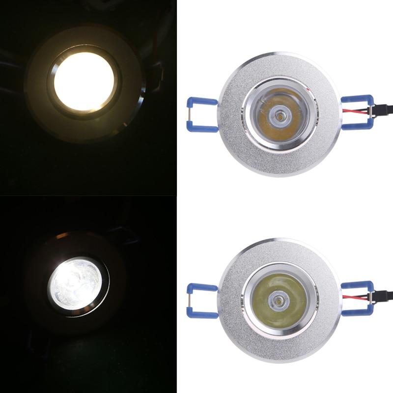 1W LED Lights 85-265V Cabinet Mini Downlight Spot Ceiling Lamp 90lm Shockproof