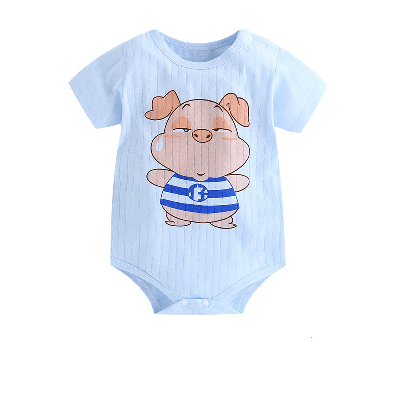 HTB1n72CaynrK1Rjy1Xcq6yeDVXaw New Summer Baby Boys Romper Animal style Short Sleeve infant rompers Jumpsuit cotton Baby Rompers Newborn Clothes Kids clothing