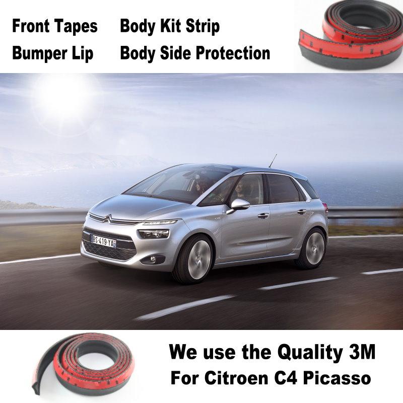 For Citroen C4 Picasso MK2 2013~2015 Car Bumper Lip lower Body Kit / Front / Rear Skirt Spoiler / Bumper Deflector Rubber Strip стоимость
