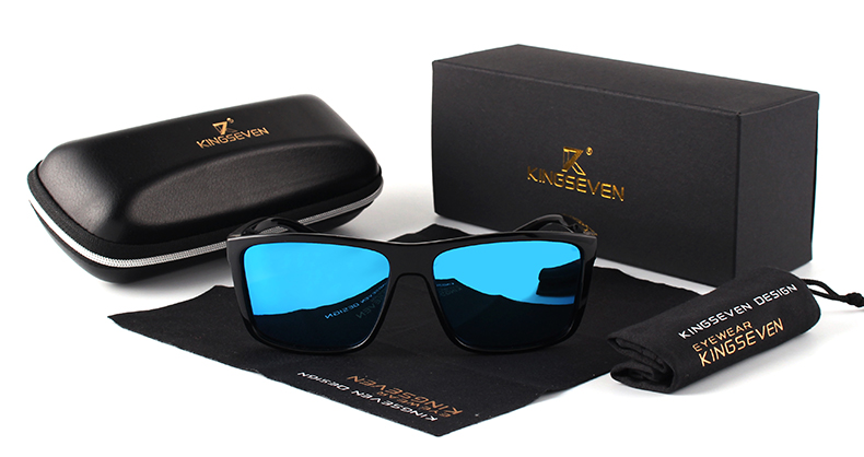 KINGSEVEN Brand Vintage Style Sunglasses Men UV400 Classic Male Square Glasses Driving Travel Eyewear Unisex Gafas Oculos S730 5