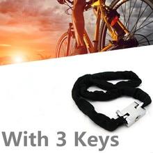 1 шт. усиленный замок цепи велосипеда металлический тяжелый замок мотоцикла замки цепи велосипеда безопасные аксессуары для езды на велосипеде