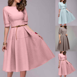SAGACE Women Dresses Print Chiffon O-Neck Summer Dresses Fashion Elegant Women Clothing Knee Length Women Dresses Dropship 95281
