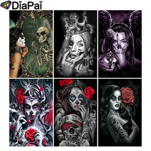 DIAPAI 100% Full Square/Round Drill 5D DIY Diamond Painting Beauty skull 3D Embroidery Cross Stitch Home Decor