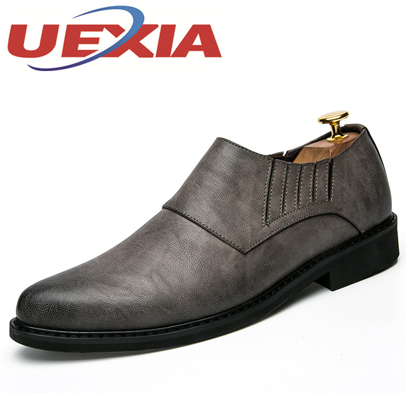 New Arrivals Mens Casual Breathable Leather Shoes Outdoor Fashion Slip On Walking Shoes Spring Men Flat Chelsea Shoes Hombre