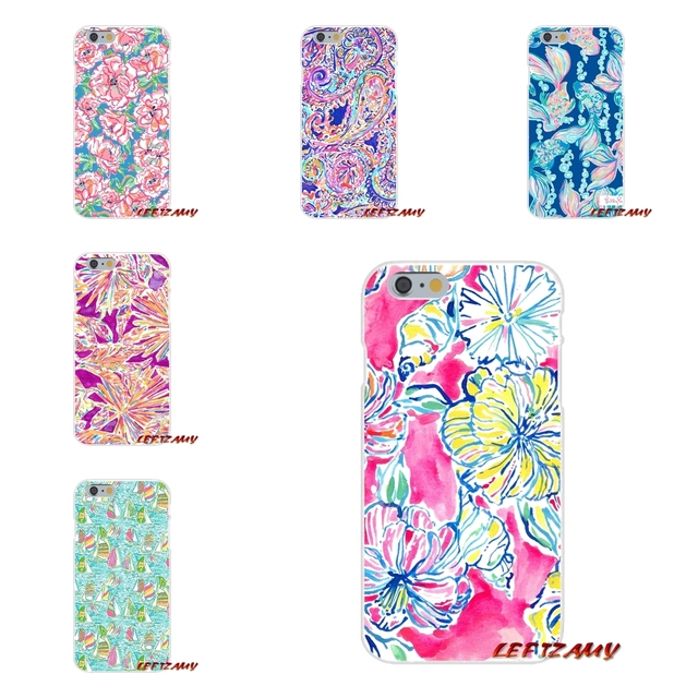 online retailer e870b 242e1 US $0.99 |Lilly Pulitzer Inspired Summer Montauk Slim Silicone phone Case  For iPhone X 4 4S 5 5S 5C SE 6 6S 7 8 Plus-in Half-wrapped Case from ...