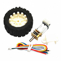 N20 Micro DC gear motor, Hall encoder encoder gear motor, intelligent car DC3V6V12V positive and negative