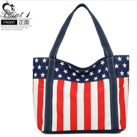 KUJING Handbags Factory Direct Sales Trend Star Stripes Large Capacity Handbag High Quality Travel Shopping Beach