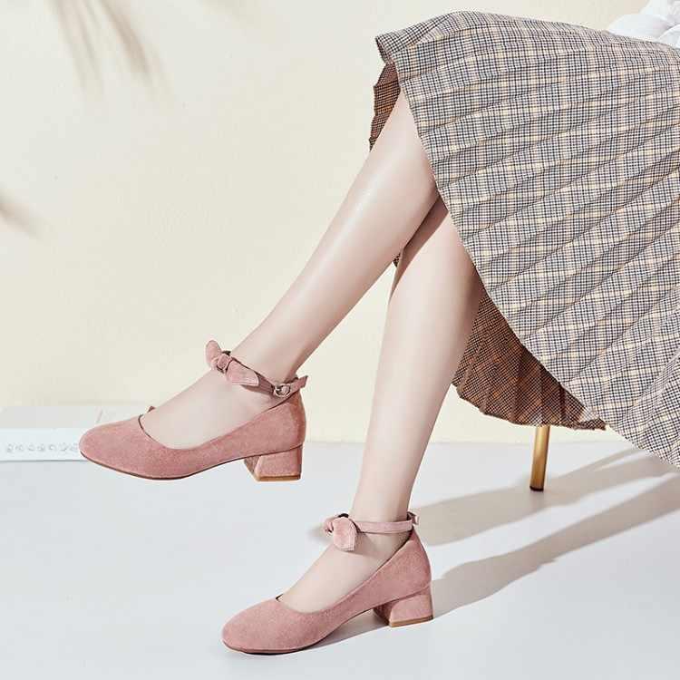 ขนาดใหญ่ขนาด 11 12 สุภาพสตรีรองเท้าส้นสูงผู้หญิงรองเท้าผู้หญิงรองเท้าสตรี One Word และตื้นปาก