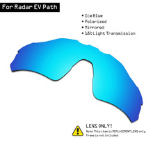 SmartVLT Polarized Sunglasses Replacement Lenses for Oakley Radar EV Path   Ice Blue