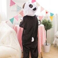 Особенности партия одежды фланель панда утолщение мультфильм животных сиамские пижамы Детская домашняя пижама 5