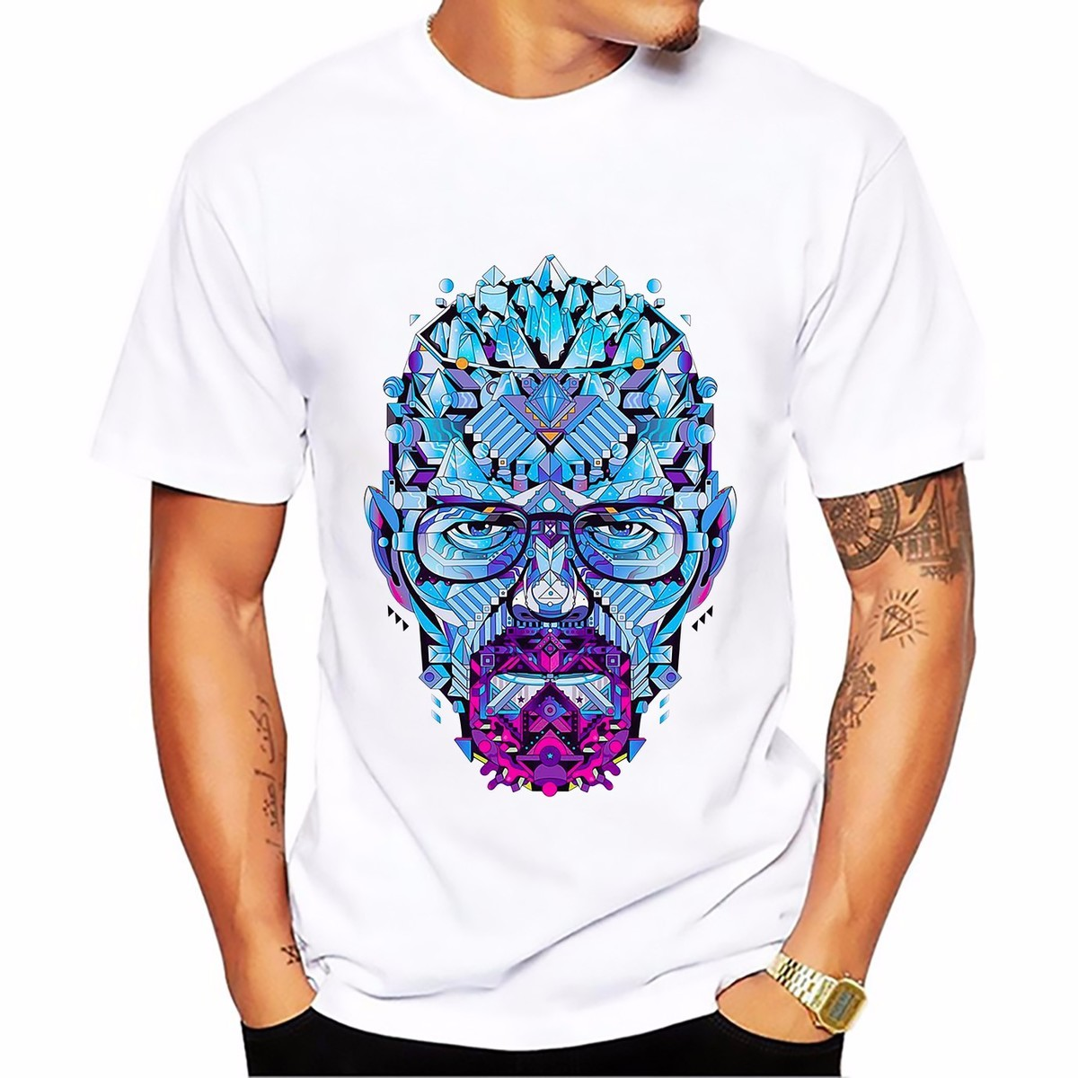 Breaking Bad heisenberg Walter White jessie pinkman t-shirt short sleeve casual tshirt Breathable comfort plus size t shirt image