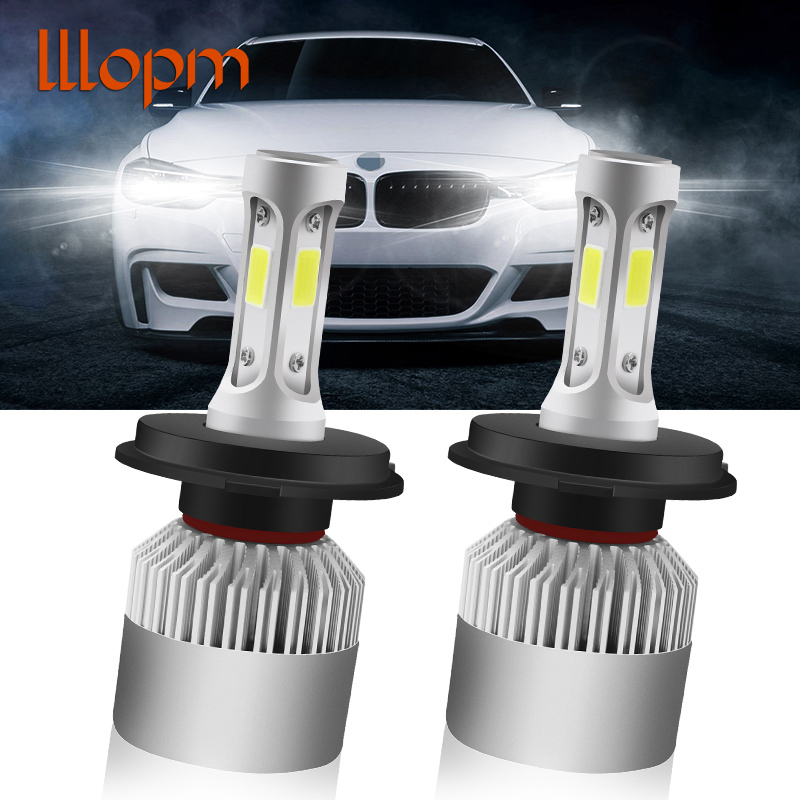 2 Pcs 12V 24V Car Headlight H4 LED H7 H1 H3 H11 H13 HB2 HB4 HB5 9004 9005 9006 9007 72W 8000LM Auto Headlamp 6500K Light Bulb men s casual shoes loafers spring autumn slip on loafers men black mens shoes casual mens loafers rivet big size 46 47 48 socks