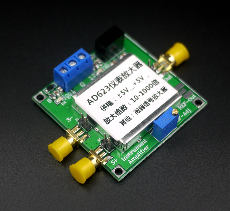 Instrumentation Amplifier AD623 Amplifier Module Single Power Single Ended / Differential Milli Volt Micro Volt Small Signal