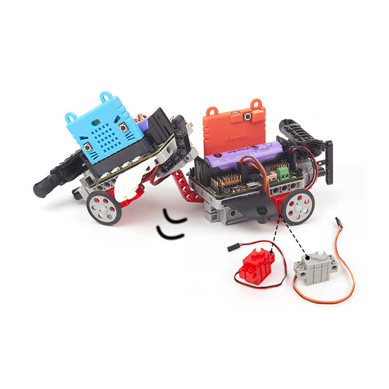 4 шт. 270 градусов программируемый серый Geek сервопривод/красный мотор-редуктор для Lego micro: bit Robotbit Smart Car Makecode MB0007 MB0008