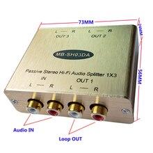 Пассивный аудио сплиттер RCA аудио сплиттер стерео RCA аудио сплиттер