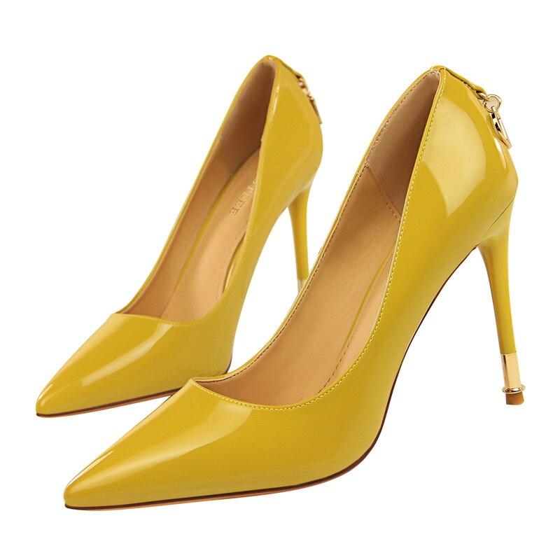 Parties 39 nu Haute jaune Nouvelle rouge Pompes Mode Femme Noir Pointu rose De Taille Talons blanc kaki 34 10 Femelle Faible Orteils Foncé Cm Sexy Robe Chaussures f5FqwxT