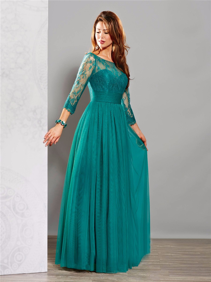 Modest-emerald-green-mother-of-the-bride-dresses-evening-party-gowns-with-long-sleeves-for-wedding