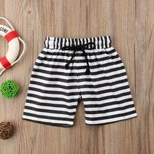 Летние полосатые шорты для маленьких мальчиков, Пляжные штаны, спортивные штаны на шнуровке, летняя пляжная одежда, купальники