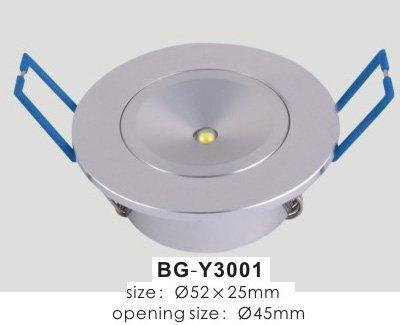 1*1W led ceiling light;AC110V/220V input;52*25mm;open hole:45mm;warm white color