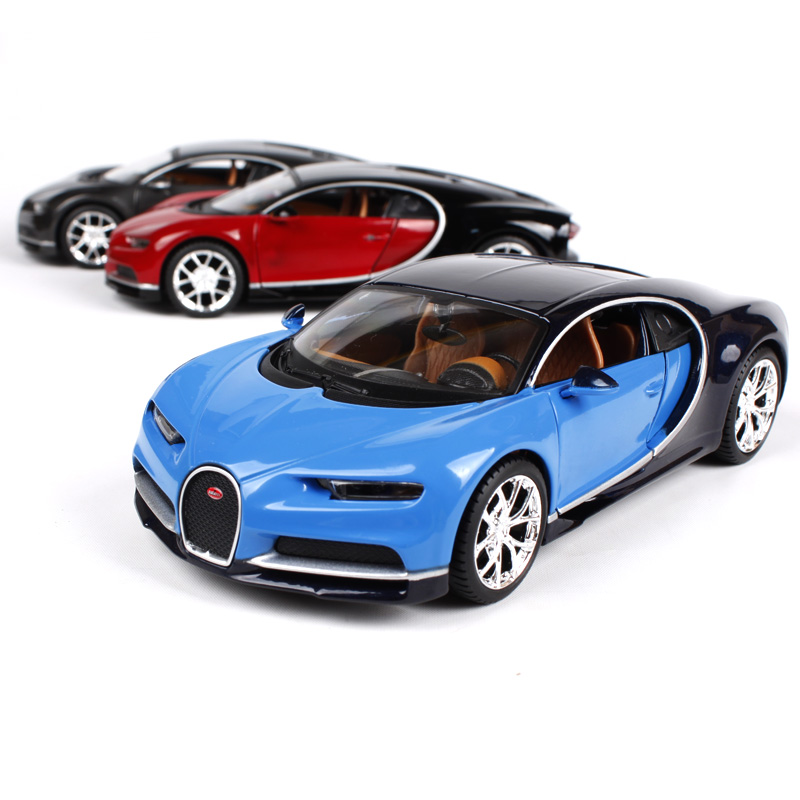 Maisto 1:24 Diecast Model Car Chiron Alloy Model Metal Car Kids Toys Roadster Car simulation model For Gift Collection