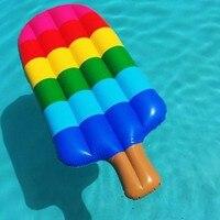 56 Inch Bơm Hơi Khổng Lồ Ice-cream Hồ Bơi Rem Cây Swim Nổi cho Người Lớn Đồ Chơi Nước Kickboard Nổi Lounge Chair Sọc hồ bơi