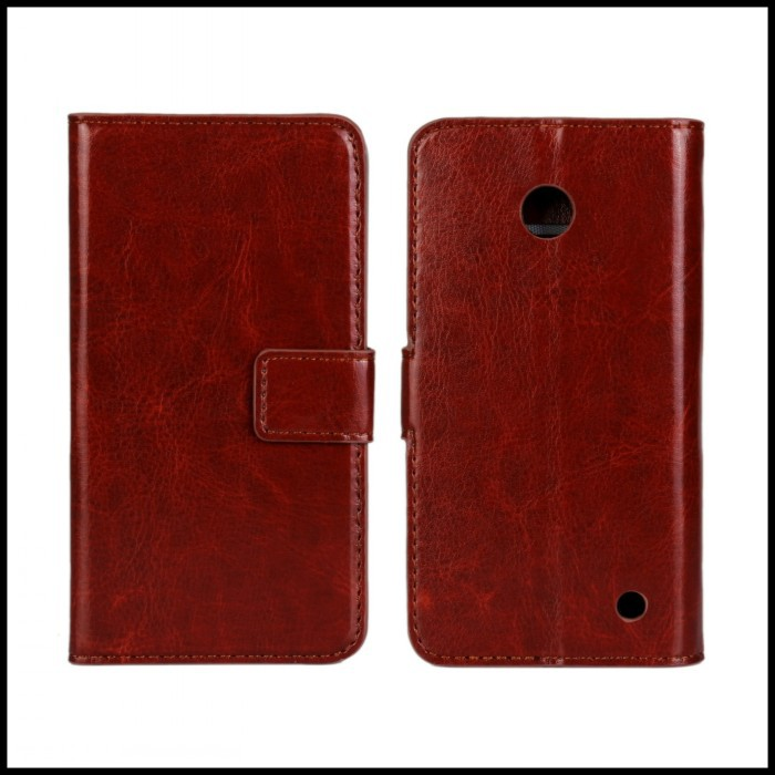 Para nokia lumia 630 monedero cubierta de la caja del teléfono móvil de accesori