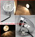 4.5 inch headlight for Harley Chopper Cruiser Cafe Racer,H4 60/55 W 12V Spot Light,E-Mark E4 Motor Bike Headlammp,High Low Beam