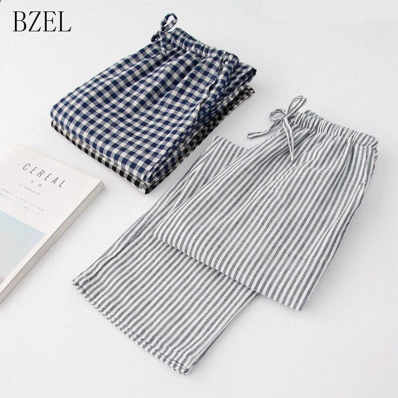 BZEL Autumn Cotton Sleep Bottoms Mens Pajama Simple Sleepwear Pants Pijamas For Male Mens Pants Pyjama Trousers Plus Size M-XL