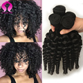 New Hair Style Bob Hair Bouncy Curls Brazilian Human Hair Bundles 3 Bundles/Lot Short Brazilian Bouncy Curly Virgin Human Hair
