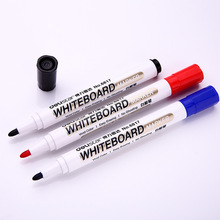 10Pcs/lot Wholesale Erasable Whiteboard Marker Pen Brush Deli Liquid-ink Dry Erase Writing Stationery Classroom Supplies