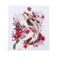 Золотая рыбка наклейки-татуировки прочный груди задней панели с защитой от пота Водонепроницаемый личности очарование Лидер продаж Arm наклейки для временных татуировок