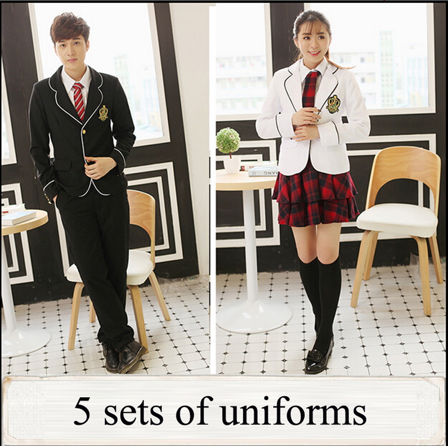 british  girls school uniform  Aliexpress.com : Buy British japanese school uniform for girls and boys  winter Senior High School Cardigan shirt Plaid skirt women tracksuit 5 sets  from ...
