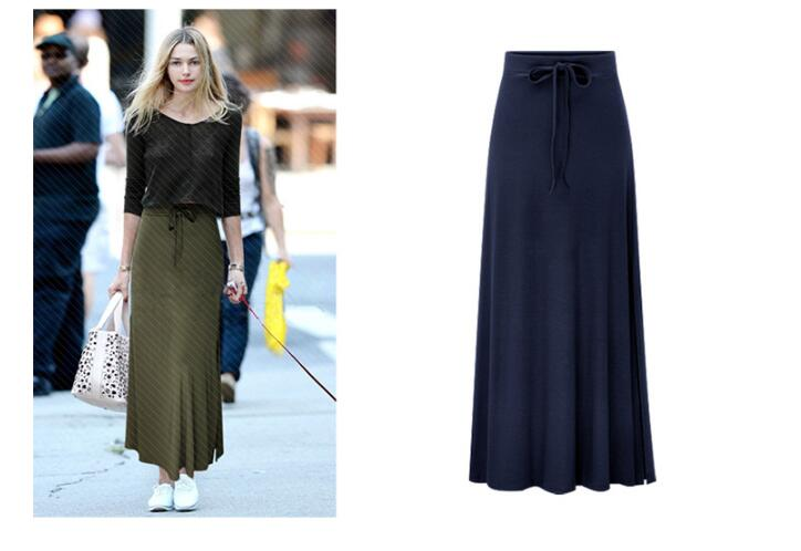 Spring Summer  Women Irregular High Elastic Waist Elegant Classic Pencil Skirt Sexy Slim Long Loose Lace -up Bowknot Skirts 6XL
