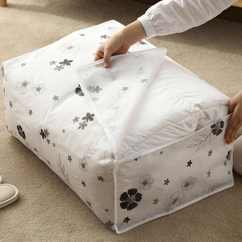 Closet Organizer Quilt Storage Bag Bag Travel Luggage Organizer Dampproof Sorting Bag Home Clothes Quilt Pillow Blanket Storage