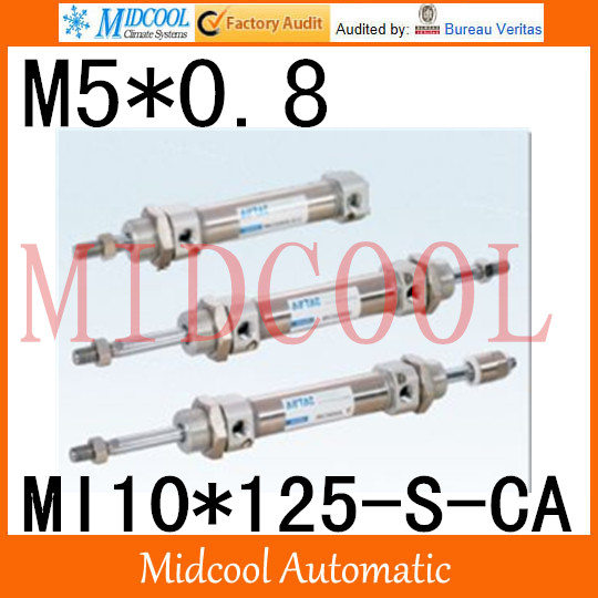 MI Series ISO6432 Stainless Steel Mini Cylinder  MI10*125-S-CA  bore 10mm port M5*0.8 купить в екатеринбурге переходник mini iso