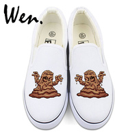 Wen Original Design Mud Monsters Slip On Canvas Shoes Mens Womens Sneakers White Black 2 Colors
