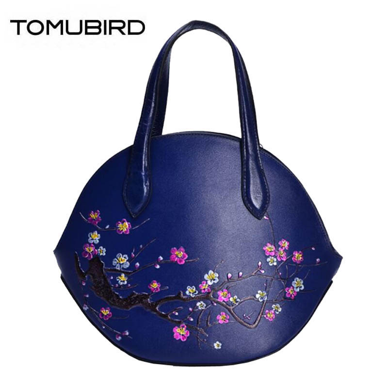 TOMUBIRD 2018 new superior Cowhide genuine leather women Embossing Leather art bag designer women genuine leather handbags tomubird new superior cowhide leather embossing flower brand women tote fashion luxury women genuine leather handbags