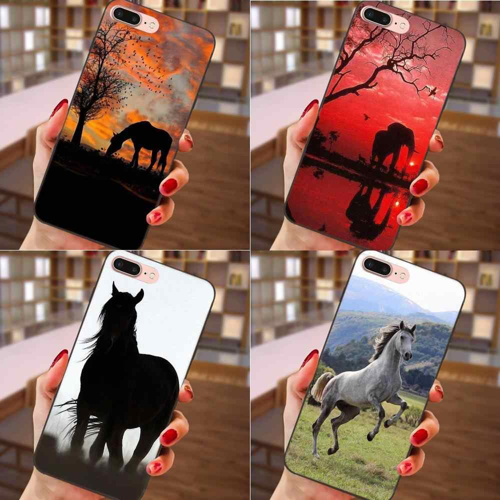 Unique High Quality Phone Case Sunset Horse Tree Birds For Samsung Galaxy A3 A5 A6 A6s A7 A8 A9 Star Plus 2016 2017 2018