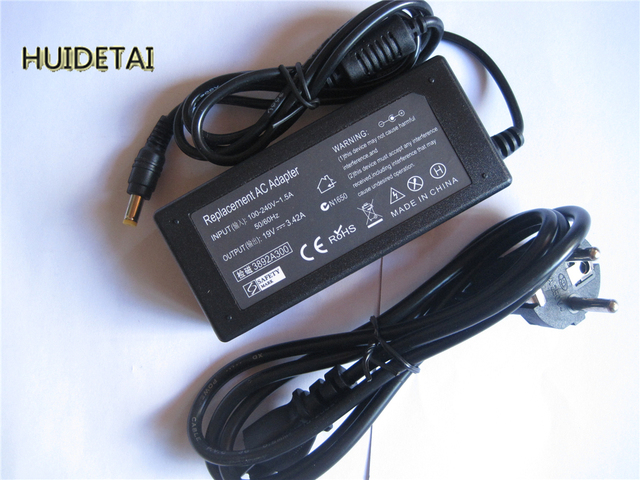 19 В 3.42A 65 Вт Универсальный Адаптер ПЕРЕМЕННОГО Зарядное Устройство для ACER Gateway HIPRO HP-A0652R3B SADP-65KB Ноутбук с Силовым Кабелем