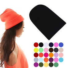 2016 Winter Warm Unsex Knitting Women Men Wool Fluorescence Color Sport Outdoors Tabby Solid Elastic Beanie Hedging Hat Hats