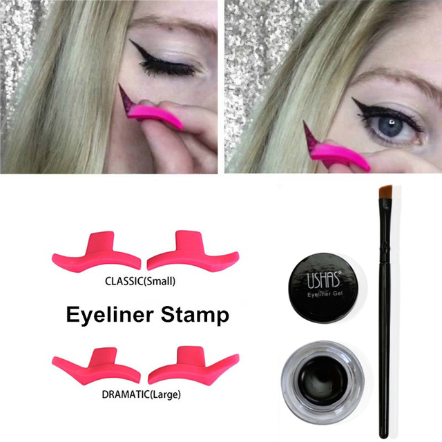 Classic Winged eyeliner Stamp Dramatic Eyeliner Stencil Make up ...