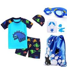 Children swimsuit boy suit split baby sun Suit Swimsuit cap